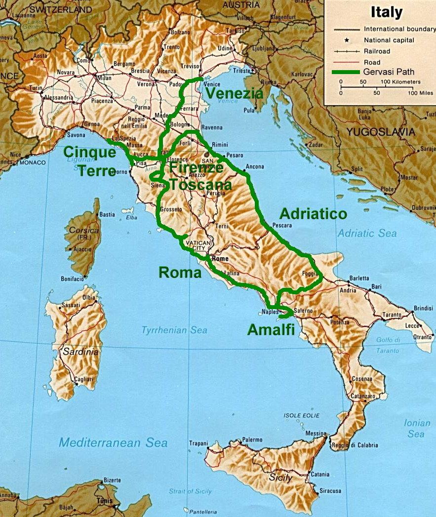 Volterra Italy Map